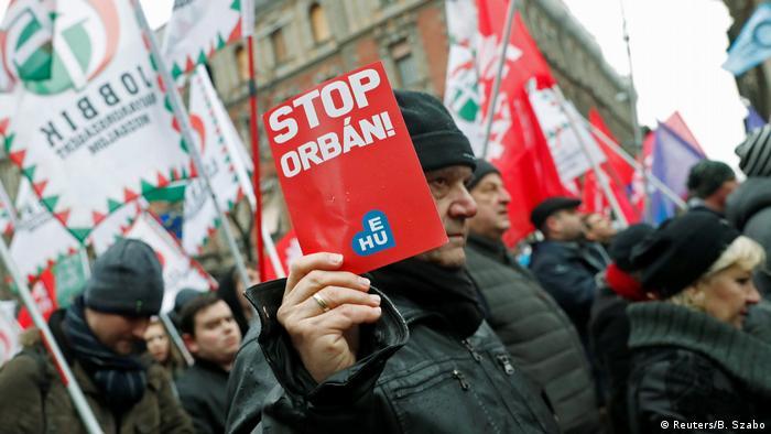 Budapest Anti Orban Protest