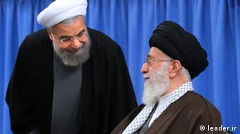 Ali Khamenei Hassan Rohani Iran (leader.ir)