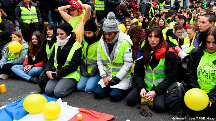 A gilets jaunes protest in Paris last weekend