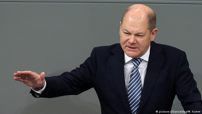 Olaf Scholz in Germany's Bundestag
