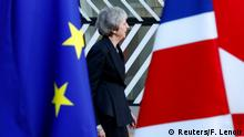 December 13, 2018*** FILE PHOTO: British Prime Minister Theresa May arrives at a European Union leaders summit in Brussels, Belgium December 13, 2018. REUTERS/Francois Lenoir/File Photo