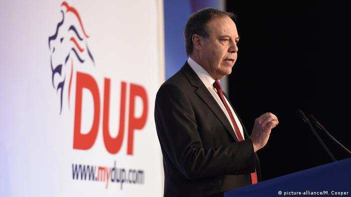Deputy Leader of the DUP Nigel Dodds in Belfast