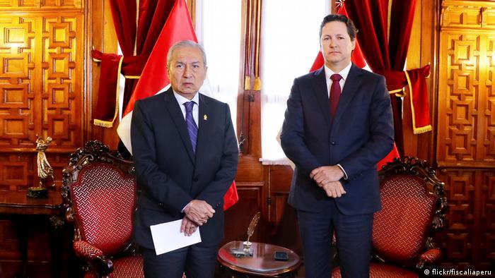 Staatsanwalt Pedro Chávarry traf sich mit dem Präsidenten des Kongresses, Daniel Salaverry (flickr/fiscaliaperu)
