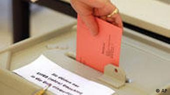 Deutschland Wahlzettel Bundestagswahl 2009