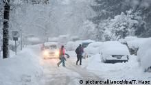 Deutschland | Schneeeinbruch in Süddeutschland