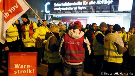 Προειδοποιητικές απεργίες στον δημόσιο τομέα της Γερμανίας