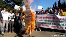 Indien Proteste in Assam