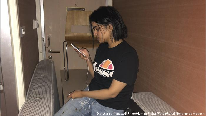 Rahaf Mohammed Alqunan (picture alliance/AP Photo/Human Rights Watch/Rahaf Mohammed Alqunun)