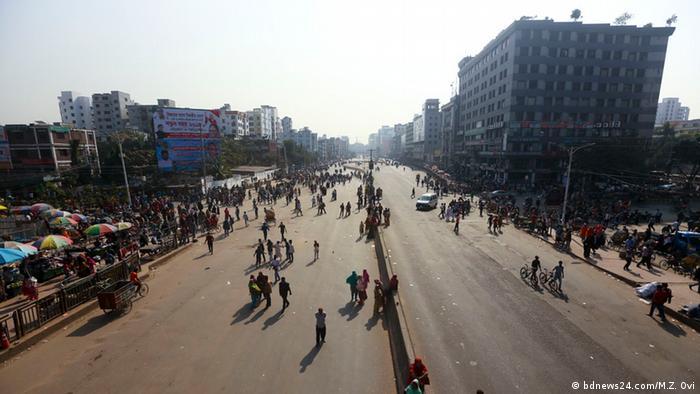Fabrikarbeiter Bekleidungsfabrik Bekleidung Bangladesch Protest (bdnews24.com/M.Z. Ovi)