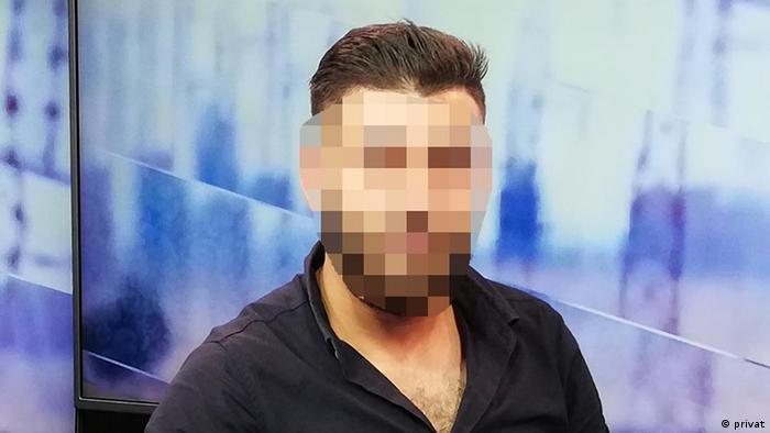 A Syrian Kurd man