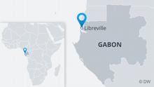 Infografik Karte Gabun Libreville EN