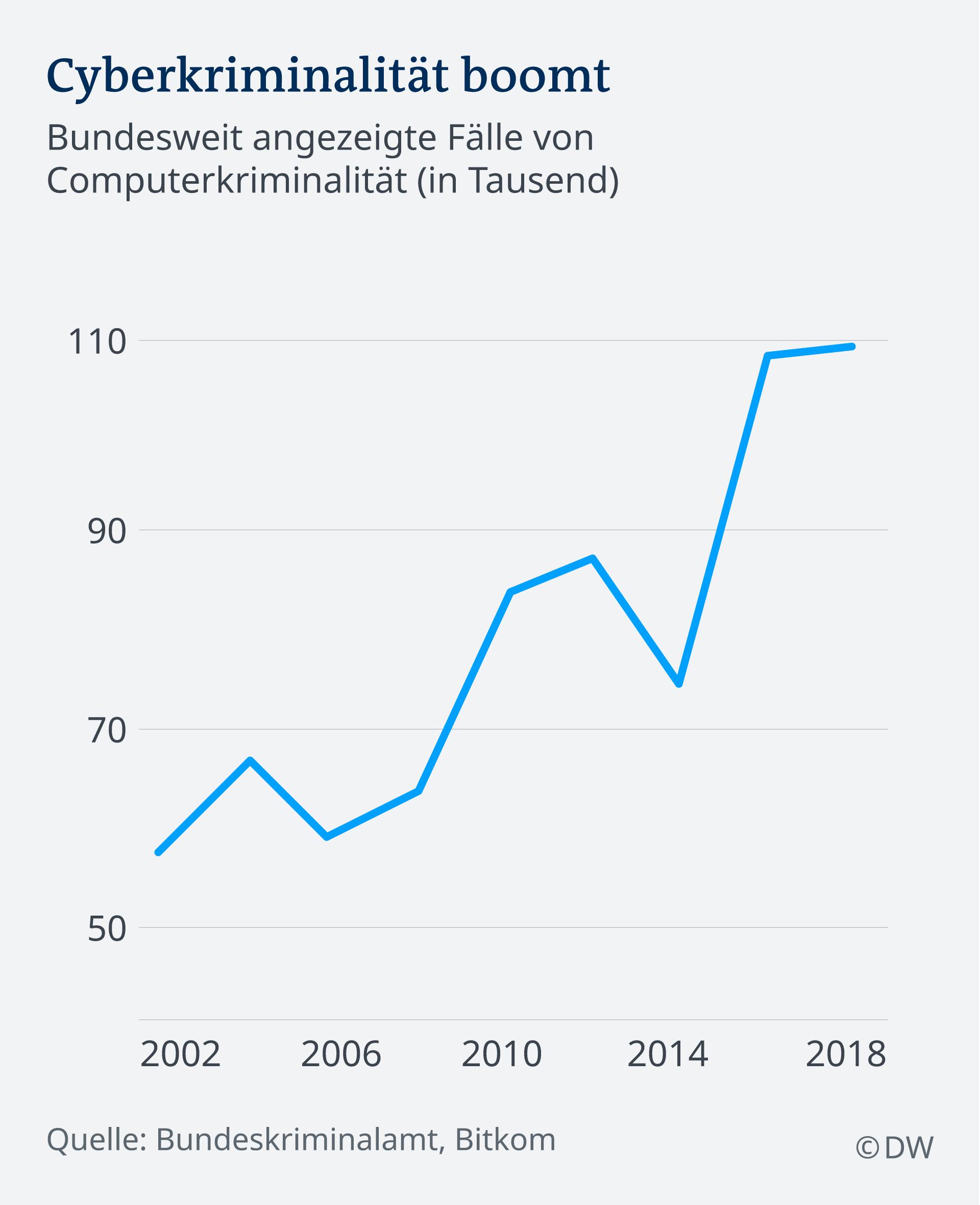 Infografik Cyberkriminalität DE