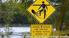 Australien Warnschild Würfelqualle