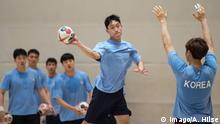 Deutschland Berlin Training Handball-Nationalmannschaft | Nord- und Südkorea gemeinsam