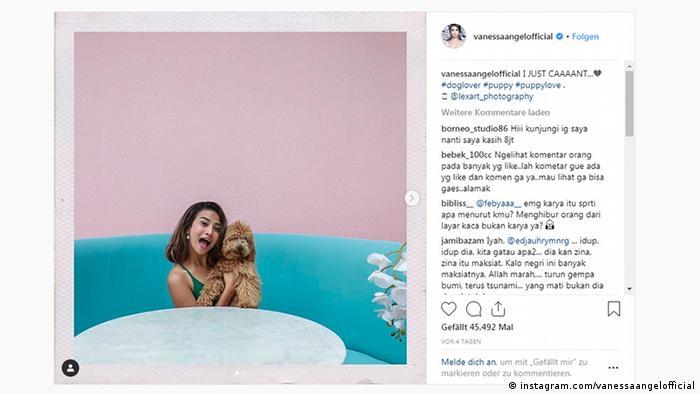 Unggahan terakhir Vanessa Angel dalam akunnya di Instagram,
