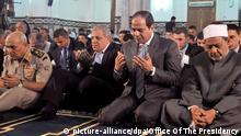Ägypten Präsident al-Sisi betet am Opferfest