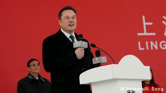 China - Tesla CEO Elon Musk eröffnet Fabrikaubau in Shanghai (Reuters/A. Song)