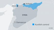 Karte Syrien Kurdisch Kontrollierte Gebiete EN