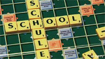 Scrabble mit dem Wort School