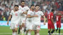 Die iranische Fußball-Nationalmannschaft beim Auftaktspiel des Asien-Cups 2019 gegen Jemen