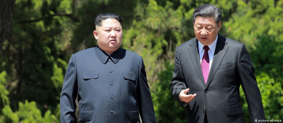 Kim e Xi se reuniram pela primeira vez em março de 2018