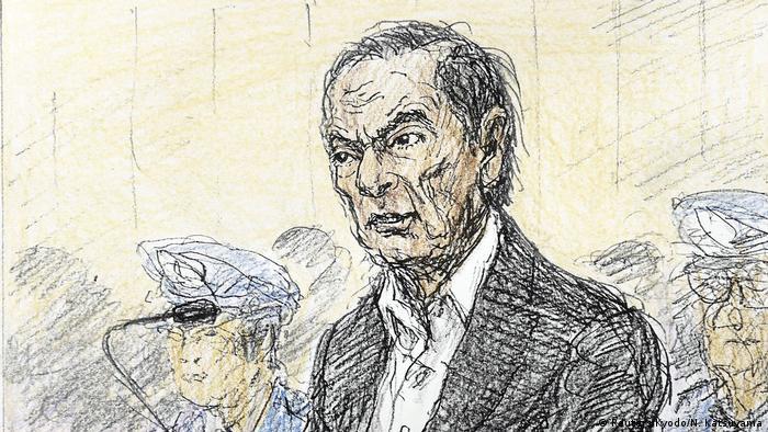 Japan Ghosn vor Gericht in Tokio - Gerichtszeichnung (Reuters/Kyodo/N. Katsuyama)