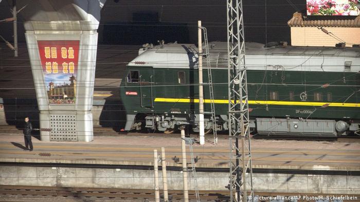 Kim Jong Un's train in Beijing
