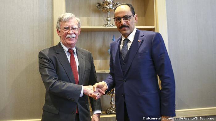 Türkei Ankara John Bolton, Sicherheitsberater von US-Präsident Trump mit Ibrahim Kalin