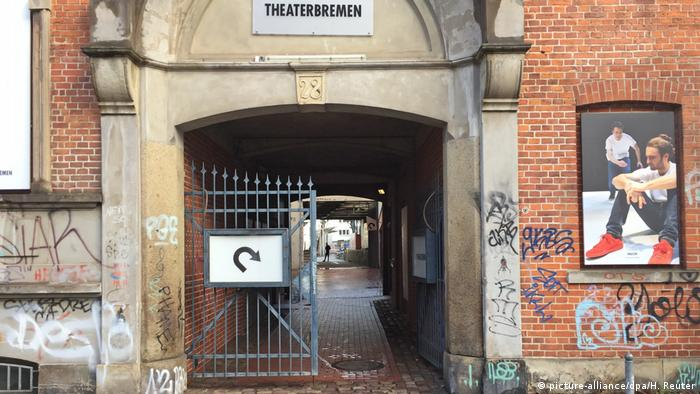 Bremen theater entrance where Frank Magnitz was attacked