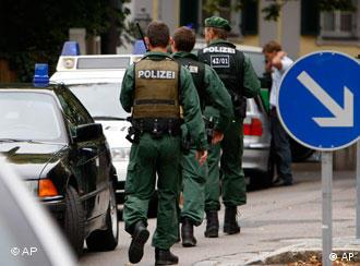 Police running to the school in Ansbach
