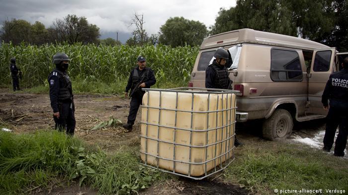 Mexiko - Beschlagnahmung von gestohlendem Benzin