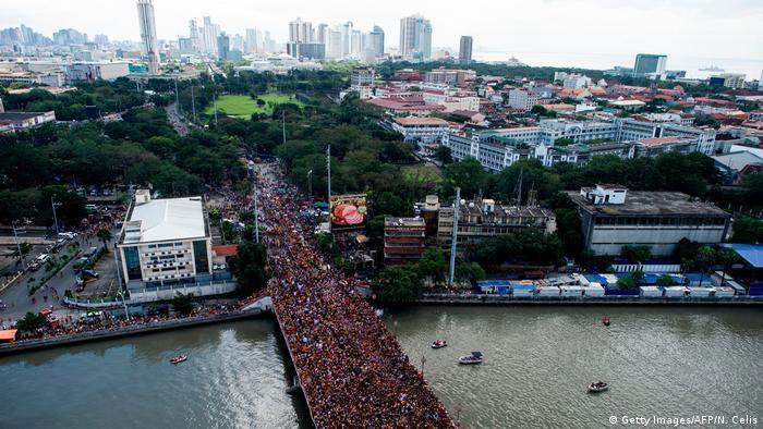 Philippinen Fest des Schwarzen Nazareners in Manila (Getty Images/AFP/N. Celis)