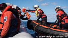 Mittelmeer-Flüchtlinge auf der Sea Watch 3