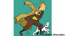 Cartoon of TIntin with his dog (picture-alliance/dpa)