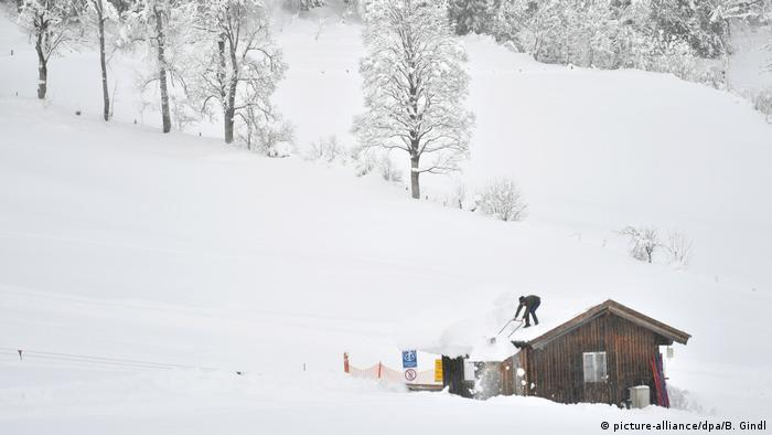 Residents were encouraged to clear snow from the roof of their houses