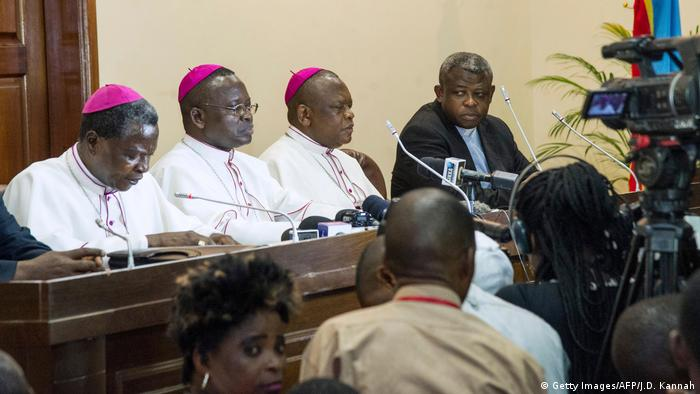 Church leaders at a press conference (Getty Images/AFP/J.D. Kannah)