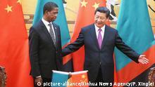 China Präsident Xi Jinping & Edgar Lungu, Präsident Sambia
