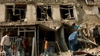 Damaged houses in Afghanistan