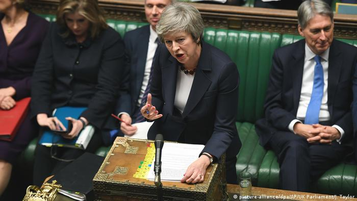 Großbritanien | Theresa May | Parlament | Brexit (picture-alliance/dpa/AP/UK Parliament/J. Taylor)
