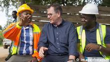 Sambia Bundesentwicklungsminister Gerd Mueller CSU besucht Black Mountain Kupfermine