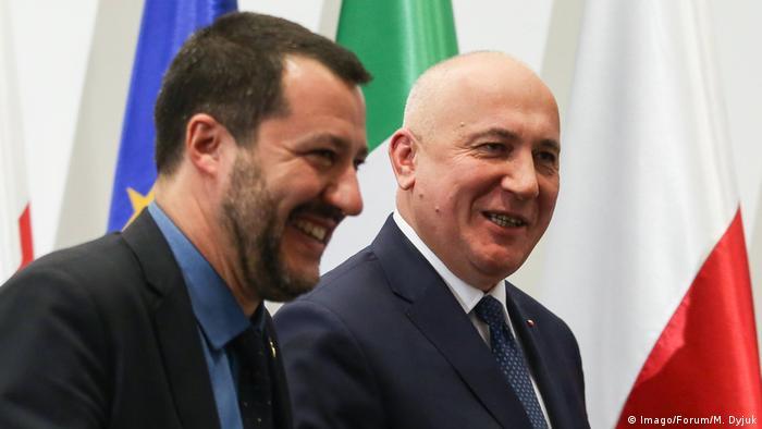 Polen Matteo Salvini bei Joachim Brudzinski (Imago/Forum/M. Dyjuk)