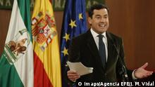 09.01.2019 People s Party (PP) candidate to Andalucia regional Presidency Juanma Moreno delivers a speech at the Andalucia s Parliament in Sevilla, southern Spain, 09 January 2019. Moreno will become new Andalucia s regional President after a deal was reached with Ciudadanos (Cs) Party and Far-right party Vox. PP s candidate to become new Andalucia s regional President !ACHTUNG: NUR REDAKTIONELLE NUTZUNG! PUBLICATIONxINxGERxSUIxAUTxONLY Copyright: xJosexManuelxVidal.x GRAF6394 20190109-636826588993004730