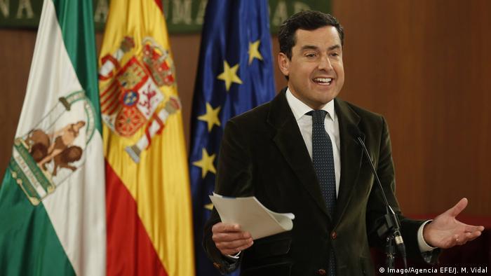 PP head Juanma Moreno (Imago/Agencia EFE/J. M. Vidal)