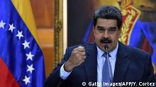 Venezuela Caracas Pressekonferenz Präsident Nicolas Maduro