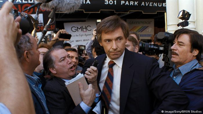 Hugh Jackman in a still from The Front Runner