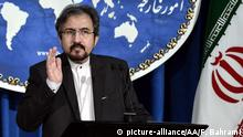 02.01.2017 TEHRAN, IRAN - JANUARY 2: Iranian Foreign Ministry spokesman, Bahram Ghasemi gestures as he speaks during a press conference organized at Foreign Ministry building in Tehran, Iran on January 2, 2017. Fatemeh Bahrami / Anadolu Agency   Keine Weitergabe an Wiederverkäufer.