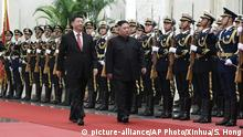 China Peking Xi Jinping und Kim Jong Un