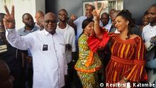 Kongo Kinshasa Felix Tshisekedi nach der Stimmabgabe