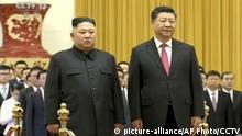 China Peking Kim Jong Un und Xi Jinping