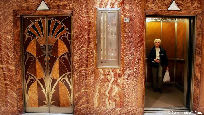 Elevators in the Chrysler Building in New York